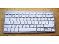 Wireless Keyboard, Bluetooth, takes AAA batteries, Ideal for Macs