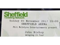 John Bishop Tickets - Sheffield Arena - 5 rows from front