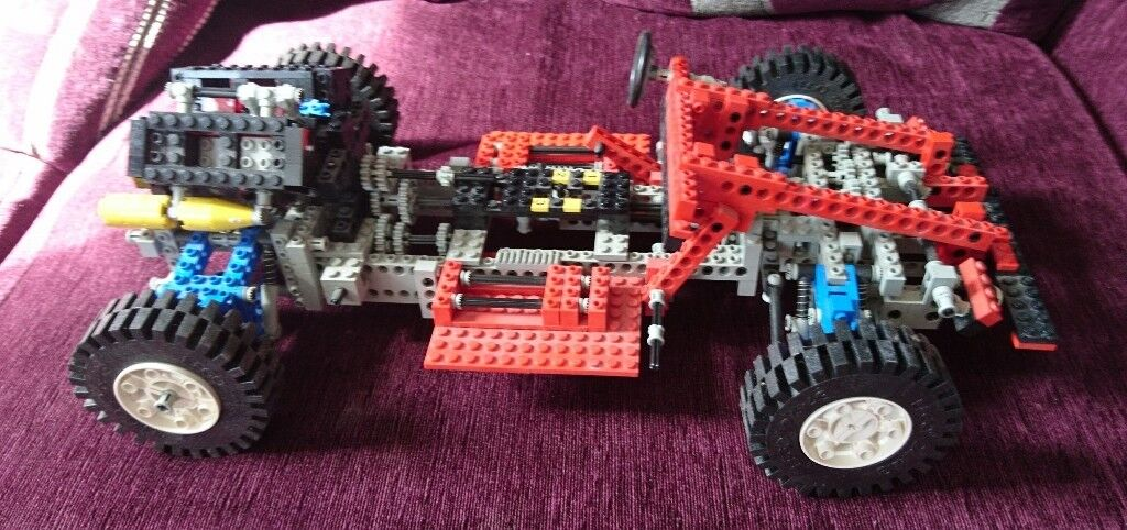 Large Lego Technic Car And 45 Kilo Box Of Lego From Late 80searly 90s