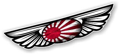 Alas Ala Emblema & Japonés Sol Naciente Bandera para Casco de Moto...