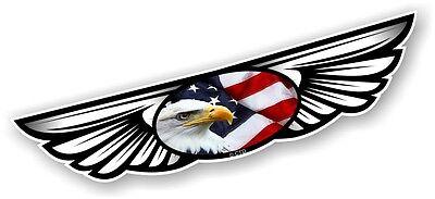 Con Alas Ala Emblema & American Eagle & Bandera para Casco de...