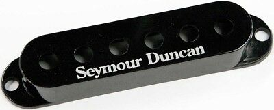 Seymour Duncan Pickup Cover for Strat Single Coil Pickups, Black with Logo, NEW!