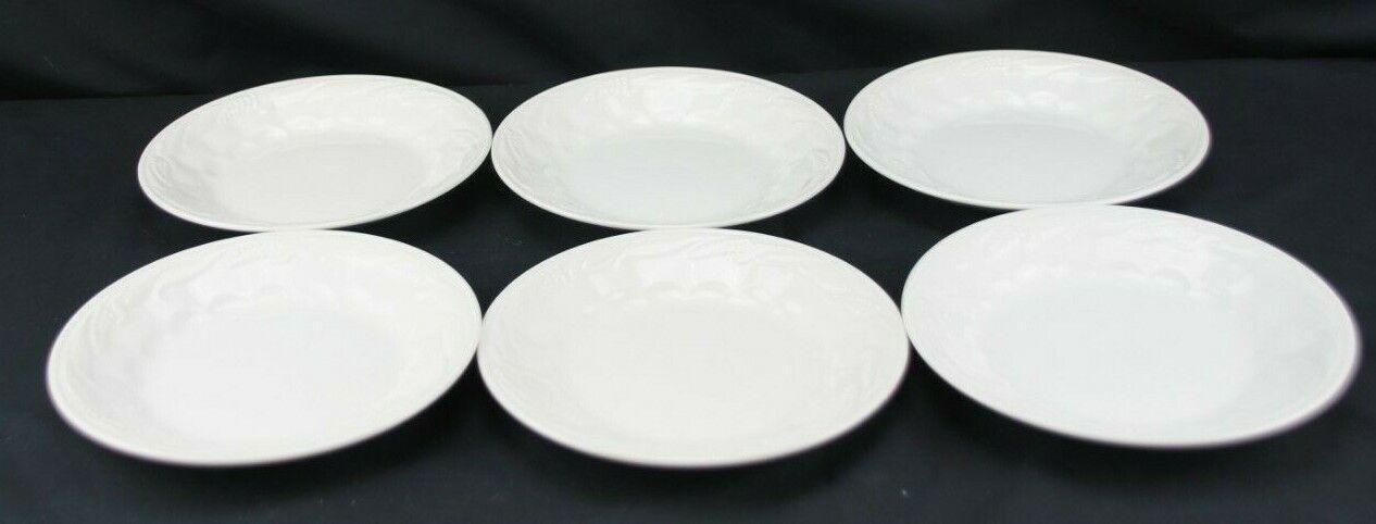 Wilkinson England Ironstone Pottery White Wheat Set 5 Bread Plates  - $49.99