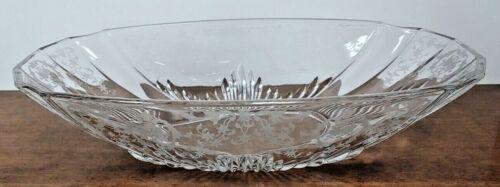 FOSTORIA ELEGANT GLASS NAVARRE OVAL SERVING BOWL - STUNNING