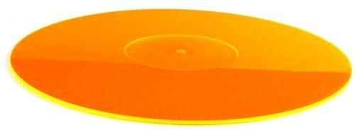 Orange Acrylic Slipmat - Vinyl Record Album LP Turntable Platter Slip Mat