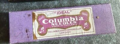 Columbia Ideal original soft tone box of 5 tins Gramophone needle England London