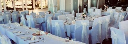 $2.50 CHAIR COVER AND SASH HIRE SPECIAL