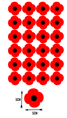 Home Decoration - 24x Poppy Remembrance vinyl sticker stickers craft  lest we forget car home