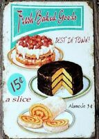 8 x 12 inch- Fresh Baked Goods- Diner Inspired Tin Wall Sign