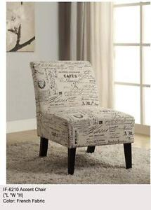 LORD SELKIRK FURNITURE - ACCENT CHAIR - $199.00