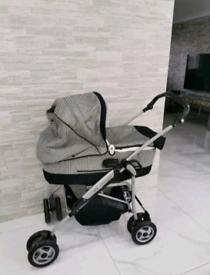 Mamas & Papas MPX travel system Black & Grey Pram Pushchair Carrycot c