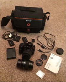 Sony a200 DSLR camera and accessories mint condition!