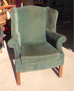 Green wingback chair Windsor Region Ontario image 1