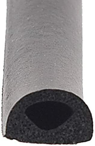 """Ap Products Rubber D-seal With Tape For Rv Door Window 018-224 Black 1/2"""" X 3/8"""""""