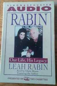 Rabin : Our Life, His Legacy (1997) by Leah Rabin on 2 Cassettes