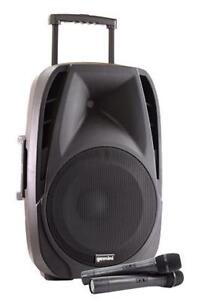 "Gemini ES15 TOGO 15"" Powered Speaker with Wireless Microphones and Battery"