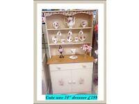 "34"" vintage, shabby chic pretty decoupaged dresser REDUCED"