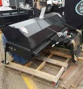 """New Jenkins 84"""" hydraulic angle sweeper skid steer attachment"""