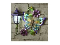Solar Butterfly Wall Plaque Home Garden Decoration
