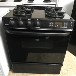 Black Gas Stove  General Electric Guarantee Delivery Available