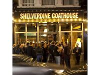 The Shelverdinn Goathouse in South Norwood are looking for part time bar staff.