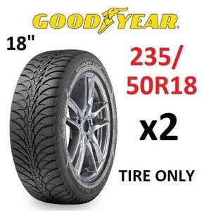 "2 NEW GOODYEAR 18"" WINTER TIRES 780-689-350 223711356 P235/50R18 WINTER TIRE 97T 18"" CAR MINIVAN ULTRA GRIP ICE"