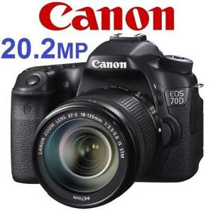 RFB CANON EOS 70D CAMERA LENS KIT 8469B016 180022210 18-135mm IS LENS DIGITAL PHOTOGRAPHY REFURBISHED