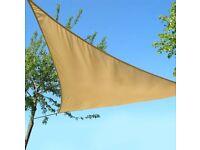 Triangle Sun Shade Sail - never used
