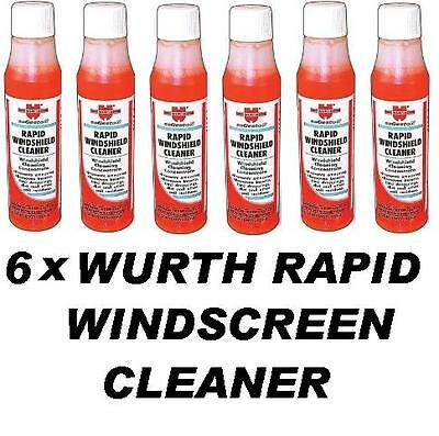 6 x WURTH Rapid Windscreen Cleaner 32ml Concentrate Screen Wash makes 15-18lt