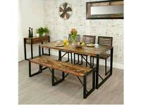 Dinning Table and Chairs Baumhaus Urban Chic