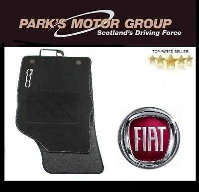 Genuine Fiat 500 Tailored Car Floor Mats Twin Fixings. New 59137558 Front & Rear