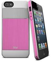 Étui en aluminium brossé Aura d'iSkin pour iPhone 5/5s - Rose