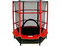Brand New My First Trampoline With Enclosure - Red