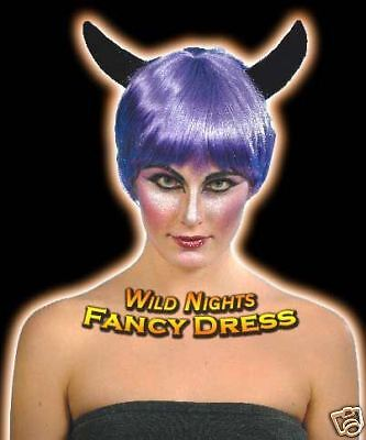 Purple Devil Costumes (HALLOWEEN FANCY DRESS WIG # HORNY DEVIL WIG)