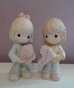 "Precious Moments: ""Best Friends Share The Same Heart"" Figurine"