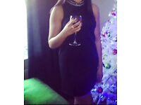 Black high neck sequence dress size 6