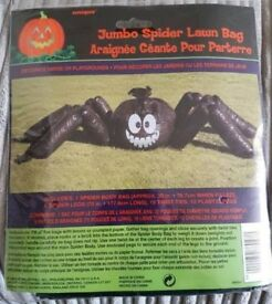 Halloween Jumbo Spider Lawn Bag