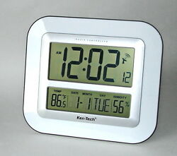 JUMBO DISPLAY RADIO CONTROLLED ATOMIC CLOCK,CALENDAR, THERMOMETER & HUMIDITY