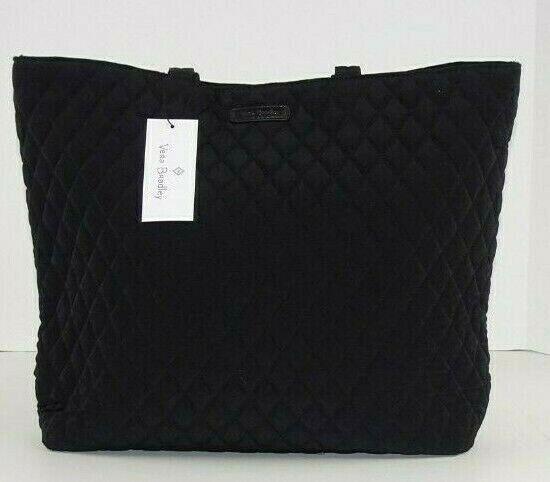 nwt essential tote bag classic black microfiber