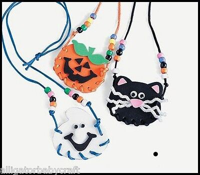 1 Halloween Necklace Lacing Craft Kit for Kids ABCraft - Halloween Craft For Kids