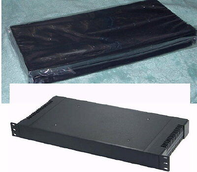 """19 inch 1U plastic rack mount radio electronic enclosure project kit cabinet 19"""" for sale  Shipping to India"""
