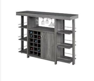 MODERN BAR UNIT AND BAR STOOLS ON SALE  FROM $55)