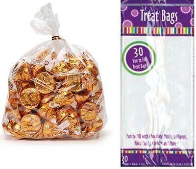 60 Treat Bags 2 Packs of 30 Bags Clear Weddings Halloween Birthday 4