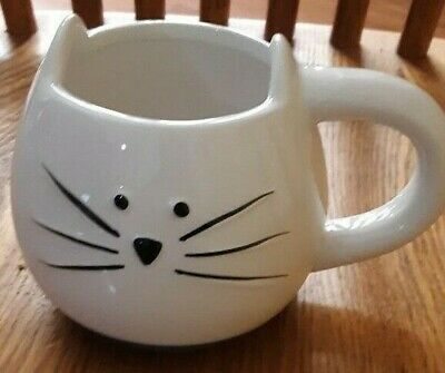 Ceramic Animal Cat Coffee Mug - Meow Cute Cup Cat Face