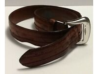 Justin New Brown BRONCO WESTERN Belt Size 32  Made in USA C12264