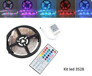 kit 5m de Bande led 3528 RGB multicouleur NEUF avec télécommande