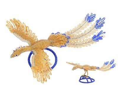 Beadworx Glass Beads Chinese Peacock Wedding Centerpiece Phoenix Like Bird (Peacock Wedding Glasses)
