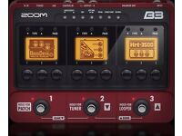 Zoom B3 Bass Guitar Processor