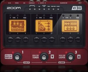 Zoom B3 Bass Multi effect pedal with looper