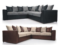 UK EXPRESS DELIVERY | LIVERPOOL BYRON CORNER OR 3+2 SEATER SOFA + FREE FOOTSTOOL | SWIVEL CHAIR